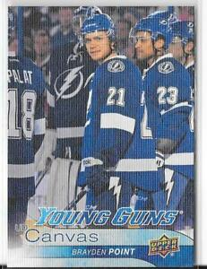 2016-17 UD SERIES TWO YOUNG GUNS CANVAS ROOKIE BRAYDEN POINT TAMPA BAY LIGHTNING