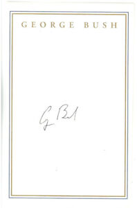 George H W Bush SIGNED Bookplate Book Plate HW President Signature Autograph