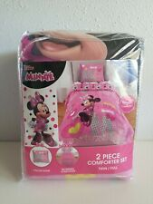 Disney Minnie Mouse Kid's Bedding Reversible Twin/Full 2 Piece Comforter Set