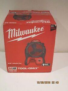 Milwaukee 0886-20- M18 Portable Jobsite Fan W/AC ADAPTER FREE SHIP NEW SEALED!!