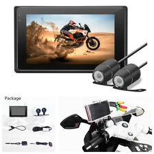 Dual 1080P WIFI Motorcycle Cameras Waterproof Dash Cam DVR GPS Front & Rear View
