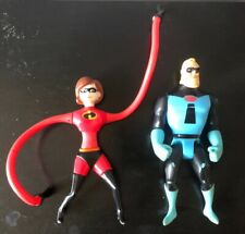 Disney's The Incredibles Mr. & Mrs. Incredible plastic rubber action Figure Toys