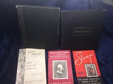 Stamp Stock Books + 3 Stamp Reference Guides + Misc. Worldwide Stamps