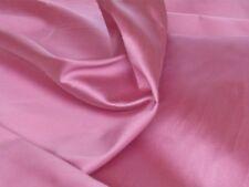 Satin de Soie-Rose-Robe/mariage tissu-Free p&p