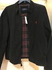 NEW RALPH LAUREN POLO COTTON CHINO BAYPORT WINDBREAKER/JACKET $125 BLACK  2XL