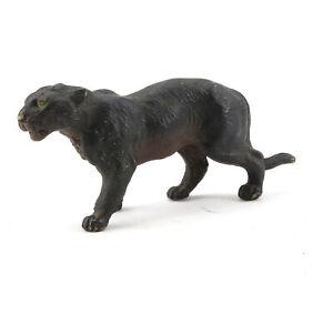 alte Massefigur Tierfigur Panther Raubkatze Panter Raubtier Schwarz Jaguar