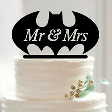 "Batman Superhero (Super Hero) Wedding Cake Topper ""Mr and Mrs"" from Bakell"