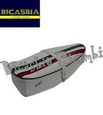9231 - SELLA SELLONE FASCIA TRICOLORE BIANCA VESPA 125 SUPER SPRINT GT GTR TS