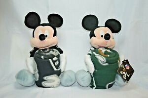 U PICK DISNEY Plush MIckey Mouse NFL New YORK JETS or RAIDERS Blanket THROW HUG