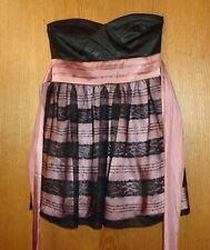 Womans sz Jr 11 - Black & Mauve FORMAL DRESS - Trixxi - SHORT & SWEET - no bones