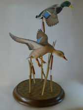 Life Size Male and Female mallard ducks Original Wood Carving