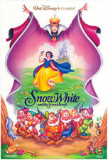 SNOW WHITE MOVIE POSTER R1994 DS 27x40 + The  Little Mermaid DISNEY Animation