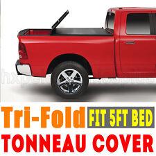 Premium Tonneau Tonno Cover For 2015-2017 Colorado Canyon 5' Tri-fold Bed BUFFA