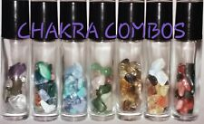 CHAKRA Crystals Roll-on Bottles Reiki Healing Yoga Apothecary Essential Oils