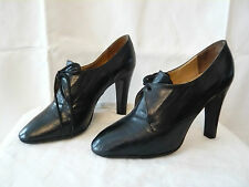"Court Shoes Uprights Lace Black Leather "" Lino and Siro "" Italy - T.38"