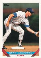 Ryne Sandberg 1993 Topps #3 Chicago Cubs baseball Card