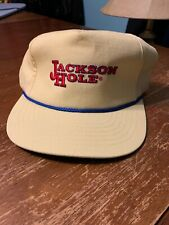 Jackson Hole WY Ski Hat Vintage 1980s/90s Yellow Trucker Hat Great Condition