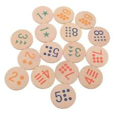 8 Pair Numbers Wooden Memory Game Kids Children Preschool Educational Toys