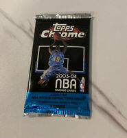 2003-04 Topps Chrome Basketball Unopened Pack **Lebron James Rookie Refractor?**