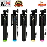 Mini Monopod Selfie Stick WIRED+FOLDABLE Mobile Phone Holder For Samsung iPhone