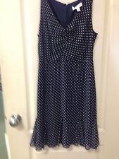 Navy pin up style Polka Dot Dress Size 6 NWOT