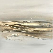 Stunnng, Textured Gold & Grey Contemporary Canvas Art direct from the artist!