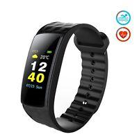 Bracelet Connecté Tracker Fitness d'activité Affichage écran couleur moniteur