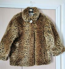 Leopard Print Faux Fur Jacket  Size 14 - Ex Cond  River Island Starlet Design