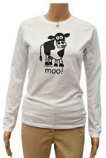 Animal Print Cotton Long Sleeve T-Shirts for Women