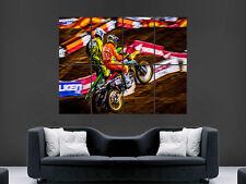 MOTOCROSS salta RIDERS MOTO POSTER WALL ART PICTURE grande gigante