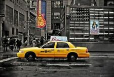 TRAVEL POSTER New York 7th Avenue Taxi