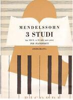 Mendelssohn: 3 Studien op.104 B N.33 Für Klavier - Erinnerungen