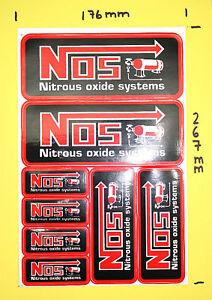 8 x Aufkleber Sticker  - NOS Nitrous Oxide Systems  #101