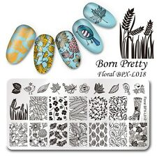 Nail Art Stamp Image Plate Floral Theme Manicure Template BPX-L018 Born Pretty