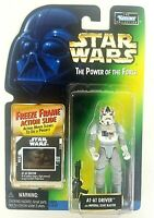 Kenner Star Wars Power Of The Force AT-AT Driver Freeze Frame Slide Figure 1998