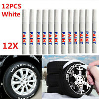 12Pcs White Waterproof Permanent Car Tyre Tire Tread Paint Marker Tire Pen