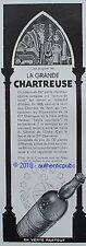 PUBLICITE LA GRANDE CHARTREUSE LES ORIGINES MARECHAL D'ESTREES DE 1937 FRENCH AD