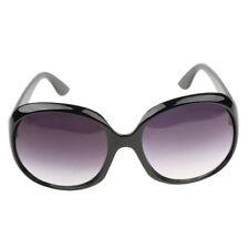 Vintage Ladies Women DESIGNER Retro Black Lens Sunglasses Oversized Eyewear