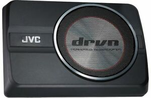"""JVC CW-DRA8 250 Watts 8"""" DRVN Series Compact Powered Car Audio Subwoofer System"""