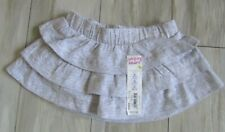 Jumping Beans Baby Girl's Gray Tiered Ruffled Scooter Skirt Size 9 Months Nwt