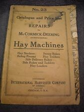 1924 No. 23 McCormick Deering Hay Machines Parts Manual Bale Stacker Rake Tedder