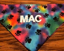 Personalized Tie Dye Paw Print Over The Collar Dog Bandana