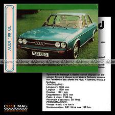 ★ AUDI 100 GL MK1 (C1) ★ Fiche Auto / Autocard #42