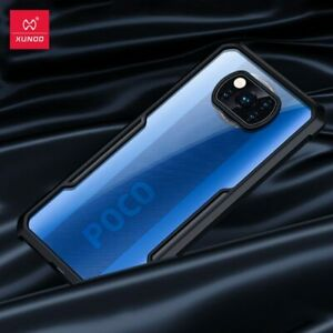 For POCO X3 NFC Case / M3 F2 F3 Pro Cover Protective Airbag Bumper Fitted Black