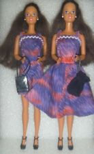 (Barbie Friend) Beautiful Twin Teresa Dolls Clothed in OOAK Outfits With Extras