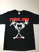 Vtg Pearl Jam Concert Band Tour T Shirt Black L Alive