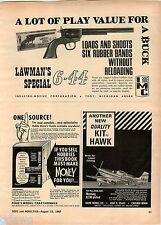 1967 ADVERT Industro Motive Corp Toy Lawman's Special Rubberband Pistol Gun