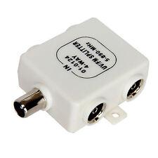 RF Splitter TV 4 Way UV FM VHF Aerial 1 Input to 4 Output TVs