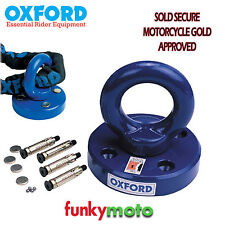 OXFORD ROTAFORCE GROUND ANCHOR 4 BOLT ROTATING HEAD SOLD SECURE MOTORBIKE GOLD