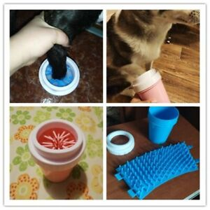 Dog Paw Cleaner Cup Soft Silicone Combs Portable Pet Foot Washer Cup Paw Clean